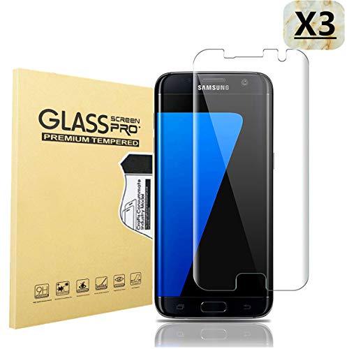 Haikingmoon Samsung S7 Edge Panzerglas Schutzfolie (3 Stück),Samsung S7 Edge Panzerfolie,9H 0.26MM HD Displayschutz Panzerglasfolie Glasfolie für Samsung Galaxy S7 Edge