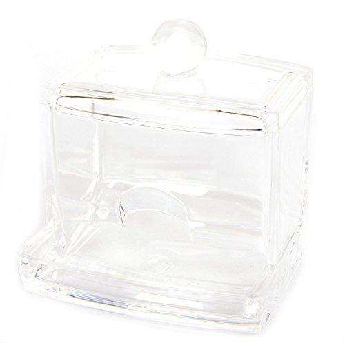 FreshGadgetz 1 Set di Porta Cotton-Fioc, Scatola Per Dischetti Struccanti