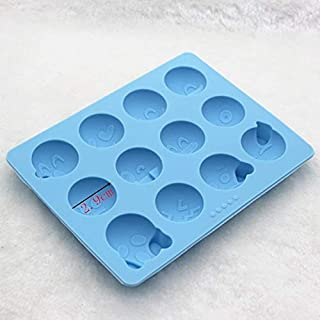 Silicone Baking Tools - 12 Hole Qq Face Smile Doll Jelly Pudding Silicone Chocolate Mould Baking - Chocolate Tools Mould Baking Baking Pastry Mold Face Doll American Tool Watch Silicon Cake Mou