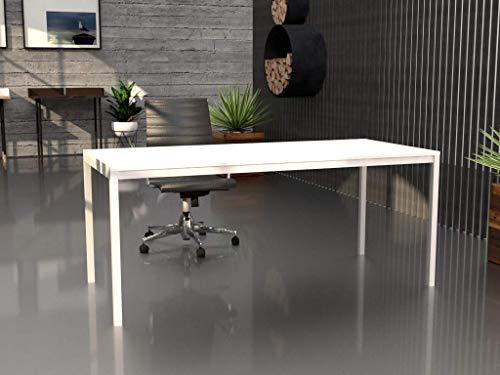 Mesa de Oficina con Estructura perimetral, de 180x80cm. FABRICACIÓN Nacional. Entrega de 3 a 5 dias. (Tablero Blanco, Estructura Blanco)