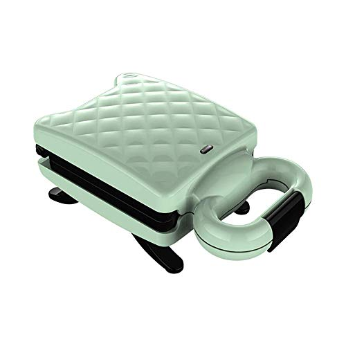 QIN.J.FANG-MY Home Sandwich Breakfast Machine, Light Food Multi-Function Toast Noodle Machine Sandwich Machine Waffle Toaster Non-Stick Coating Easy to Clean 600W,Green