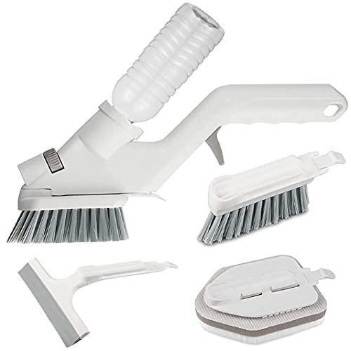 MYYHH Set di 5 pennelli multifunzionali per la pulizia di piastrelle, per cucina, tappeto, bagno, finestra, spazzola in vetro (quattro in uno)
