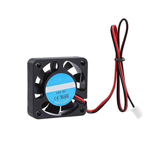 Tangxi 2PCS Ventilador de Impresora 3D, 40x40x10mm Impresor 3D Ventilador enfriamiento,DC 24V 7000 RPM Ventilador Super silencioso 4010 para CR-10