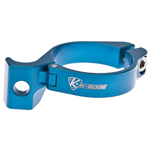 K-Edge Unisexe - Adulte Braze-on Adaptateur Clamp Guidon Chaine Bleu Taille Unique