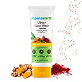 Mamaearth Ubtan Natural Face Wash for All Skin Type with Turmeric & Saffron for Tan removal and Skin brightning 100 ml - SLS & Paraben Free
