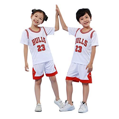 QINYA Camiseta Baloncesto Niño Niño Michael Jordan # 23 Chicago Bulls Retro...