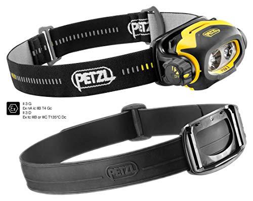 PETZL Profi-Bundle PIXA 3 (ATEX) und Rubber-Band für Feuerwehrhelme, Bauhelme, etc.
