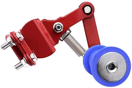 QYA Universalmotorrad-Kettenspanner Teller Automatische Regler Fit for Yamaha H0NDA Ducati Aprilia Su.zuki Dirt Bike Gelb + Blau 1 STK Robustes Material, (Color : Red+Blue)
