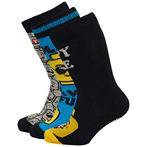 LEGO Jungen CM-50334-3 Pack Socken, Mehrfarbig (Blue 539), 26 (Herstellergröße: 26/27)