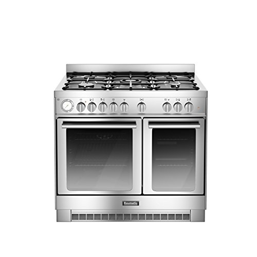 Baumatic BCD925SS Freestanding Gas Hob Stainless Steel–Kitchen (Kitchen Freestanding, Stainless Steel, Rotary, Front, Gas Hob, Cast Iron)