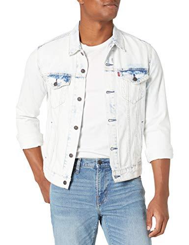 Mens Trucker Feathers Cotton Denim Jean Jacket