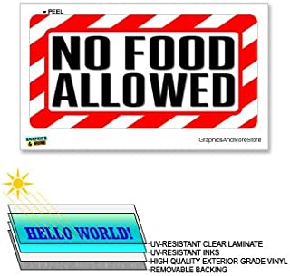 No Food Allowed - 12 in x 6 in - Laminated Sign Alert Warning Business Store Sticker