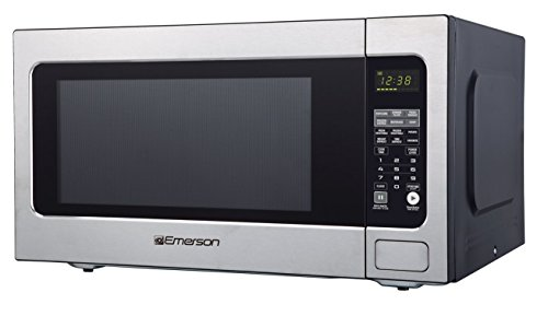 Emerson ER105003 2.2 cu. ft. 1200W, Sensor Cooking Touch Control, Counter Top Microwave Oven,...