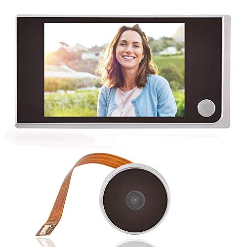 "3.5""LCD HD Screen Peephole Viewer Digital Door Eye Viewer Camera 480×320P Image Resolution 120 Degree Wide Angle Home Security System"