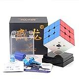 OJIN MoYu WEILONG GTS3M 3X3 Puzzle Cube WEILONG GTS V3 Twist Puzzle Cube with One Cube Bag And One Cube Tripod (Senza Adesivo)