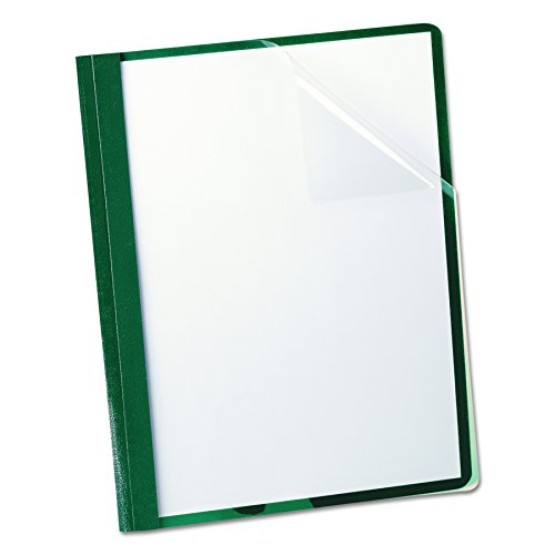 Oxford Clear Front Report Covers, Letter Size, Hunter Green, 25 per Box (55856)