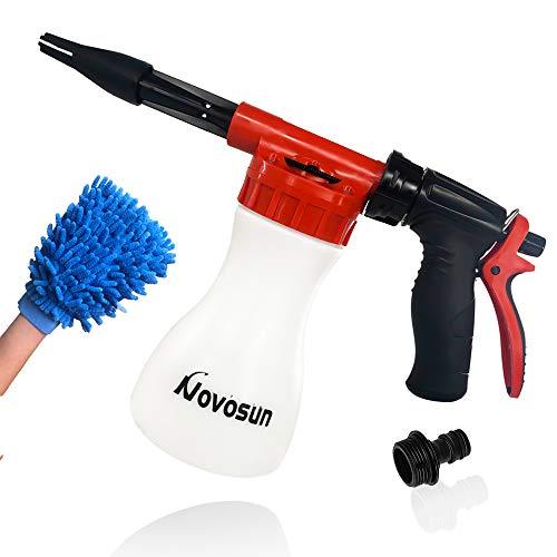 Car Wash Foam Gun, Adjustable Hose Wash Sprayer with Adjustment Ratio Dial Foam Blaster Fit - Foam...