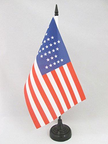 AZ FLAG TISCHFLAGGE USA 33 Sterne 21x14cm - VEREINIGTEN Staaten VON Amerika ALT TISCHFAHNE 14 x 21 cm - flaggen