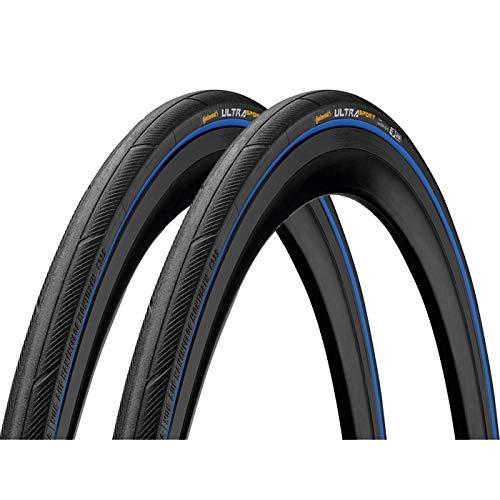 2本セット Continental(コンチネンタル) UltraSport3 ウルトラスポーツ3 クリンチャー 700c (ブルー, 700x25c) [並行輸入品]
