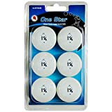 Martin Kilpatrick 1 Star Table Tennis Balls - 6 Pack - 40mm - White - Poly Ping Pong Balls - Excellent Quality