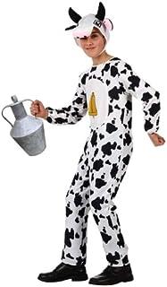 Atosa-10816 Disfraz Vaca, Color blanco, 3 a 4 años (10816