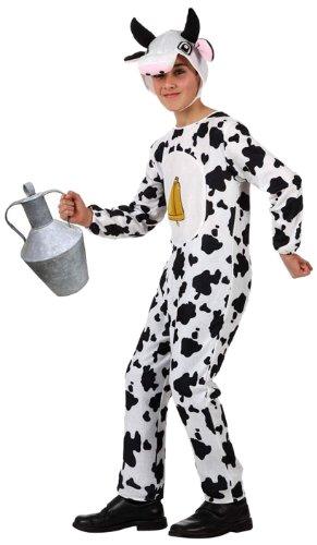 Atosa-10820 Atosa-10820-Disfraz Vaca-Infantil 10 a 12 Unisex- negro, Color, 10-12 años (10820)