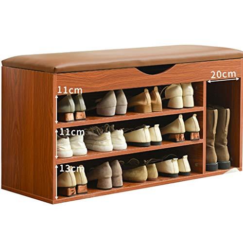 YUESFZ Bancos con cajones Baúl Botas Banco Almacenamiento De Zapatos Taburete De Zapatos En La Entrada Zapatero para El Hogar Cojín Suave Zapatero Taburete De Almacenamiento Multifuncional