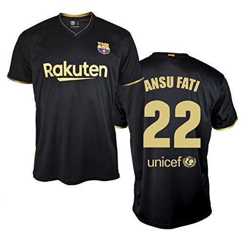 FC. Barcelona Camiseta Replica 2ª EQ. Temporada 20/21 Adulto - Producto con Licencia – Dorsal 22 Ansu Fati - Talla XL