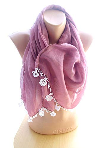 Dust rose Crinkle Scarf Long Women store Chris Accessories Shawl Max 50% OFF