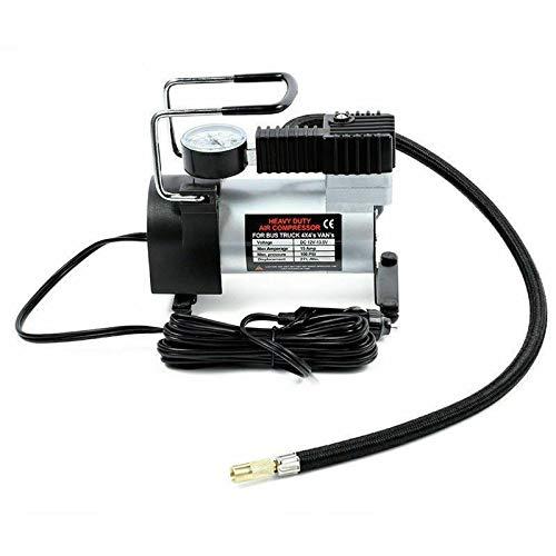 Riloer Compresor de aire portátil para coche, inflador de neumáticos de coche, 12 V CC, 15 A, 100 PSI, bomba de aire de alto volumen para coches, motocicleta, triciclo, 3 adaptadores de boquilla extra