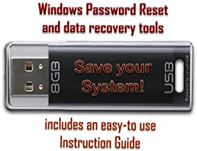 Computer Password Reset & Data Recovery Tools for Windows - on 8GB USB Flash Drive