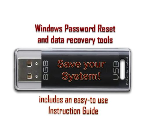 Price comparison product image Computer Password Reset & Data Recovery Tools for Windows - on 8GB USB Flash Drive