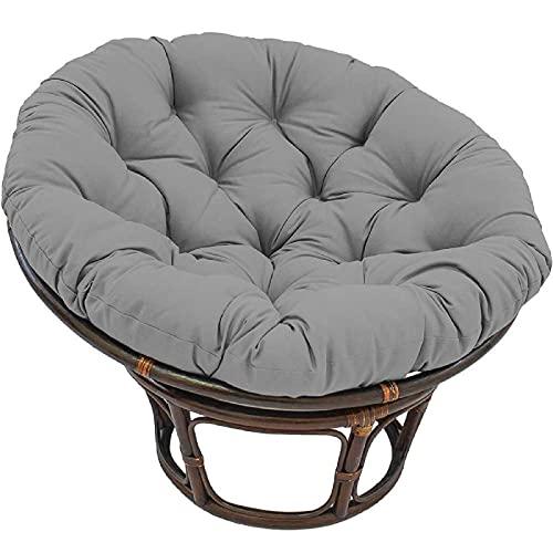 Cuscino Poltrona papasan,Soffici Rotondo Cuscino per Sedia,Impermeabile Rotondo Swing Cuscino Sedia per Appendere L'amaca Patio Giardino,Grigio,55 * 55in