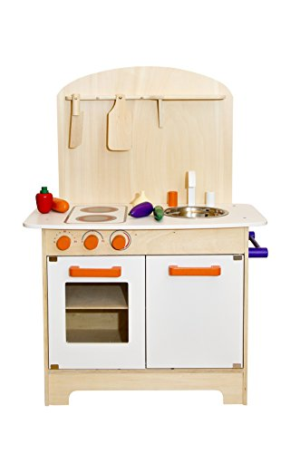 Glow2B Spielwaren 1000016 - Küche aus Holz mit viel Zubehör