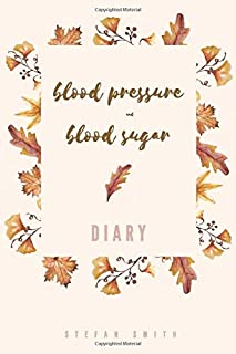 Blood Pressure and Blood Sugar Diary: Diabetes and Blood Pressure Journal, Monitor your Health Numbers in Handy size Diary Log Book, Daily Weekly Blood Glucose Blood Pressure Logbook ( 2 Years +) Record your Health Number for Men and Women - Floral Peach