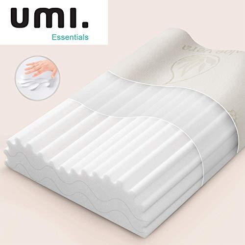 UMI. by Amazon - Memory Foam Kissen Viscoelastischem Kopfkissen Orthopädisches Nackenstützkissen für HWS Schlafkissen 60x35x13/11cm, Weiß
