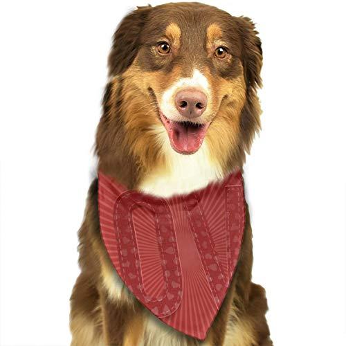 Valentijnsdag Rood Papier Woord Liefde Voor Uw Ontwerp Hond Kat Bandana Driehoek Bibs Sjaal Huisdier Kerndoek Set Voor Kleine Tot Grote Hond Katten Aangepast