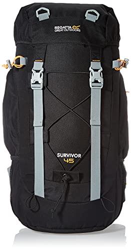 Regatta Survivor III Hardwearing Padded Camping and Hiking Rucksack - Black, 85 Litre