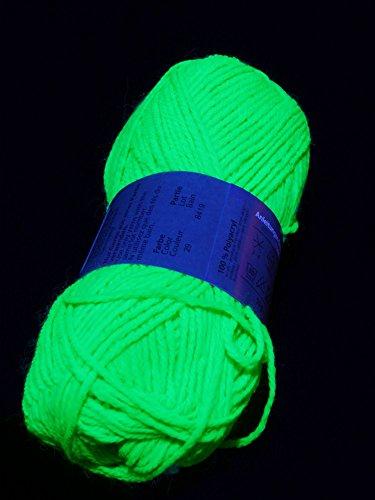 50g Schwarzlicht Wolle Grün