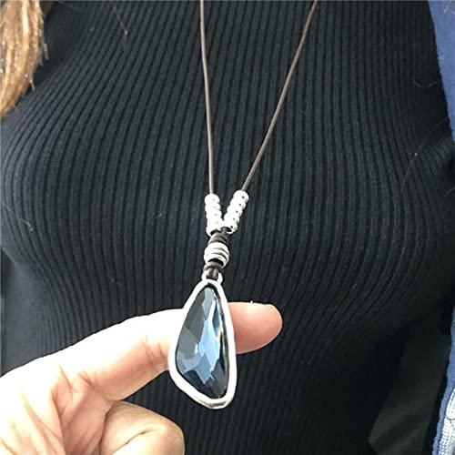 SPACELQ Vintage Barroco Ronda Irregular 70 cm Collar de Cadena de Roca para la joyería Femenina Accesorio Nuevo diseño