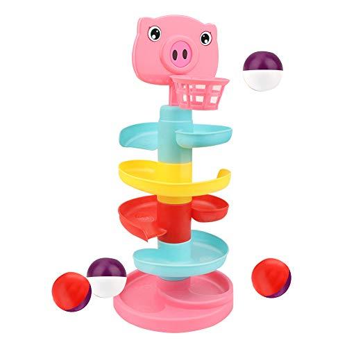 XIAPIA Juguete Bebes 1 año Niña Niño Juguete de Construcción de Pista de Bola Canasta Baloncesto Centro de Actividades Divertidas Interactivo Regalo de Cumpleaños por 1-3 años