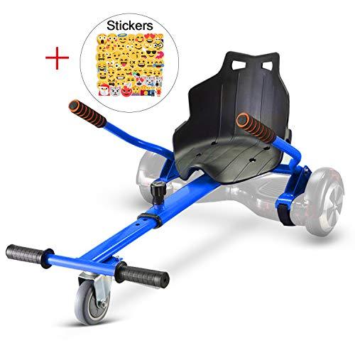 LOVESPORT Hoverboard Sitz,Hoverkart für Hoverboard Kinder Kompatibel mit 6,5 Zoll 8,5 Zoll und 10 Zoll Elektro Scooter Gokart (Blau)