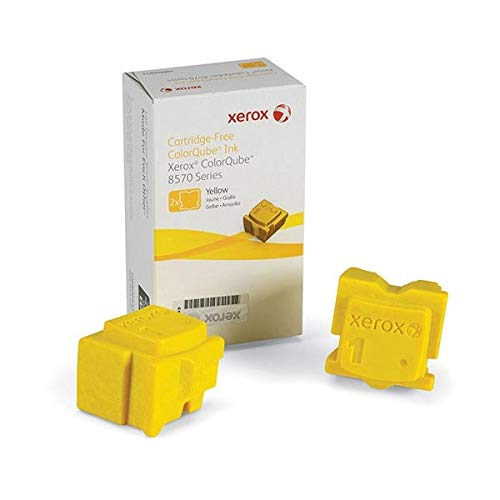 Genuine Xerox ColorQube 108R00928 / 108R928 Yellow Ink Sticks for Phaser 8570 (2 pcs/ Box)