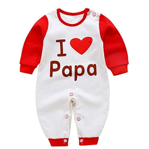 Usunny Vêtement Bébé Fill et Garçon Onesie Enfant avec des Motifs Mignons pour Nouveau Né 0-12 Mois (0-3 Mois, Love Papa)