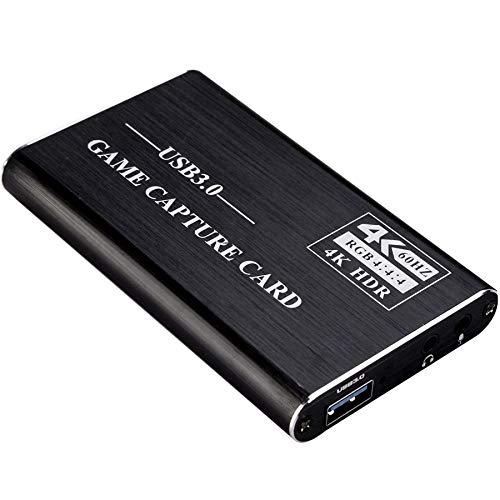 Kdely Game Capture Karte USB 3.0 Full HD 1080P HDMI Videoaufnahme Video Capture Card mit Live- Übertragungen Recorder Gerät Streaming Capture Card für Windows/Linux/OS X/Syste/Nintendo Switch