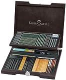 Faber Castell Maletín de madera con gama completa Pitt y accesorios.