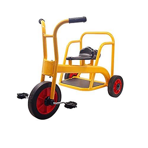 HKX Trike My Rider Tandem Dreirad für Kinder, Retro-Design, gummierte Räder, verchromtes Schutzblech-Deck vorne, für Kinder ab 3 Jahren