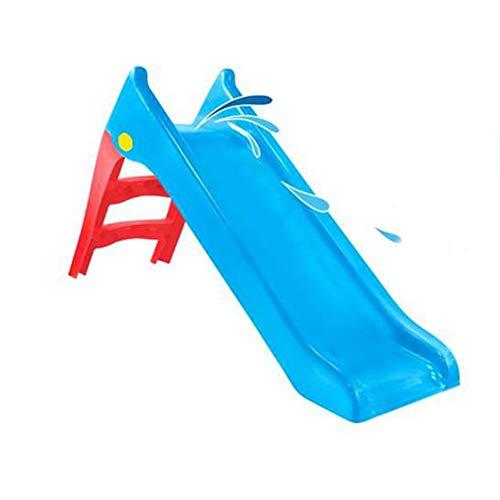 Mochtoys Kinderrutsche 12166, Wasserrutsche, wetterfest, 140 cm Rutschlänge, Farbe:blau