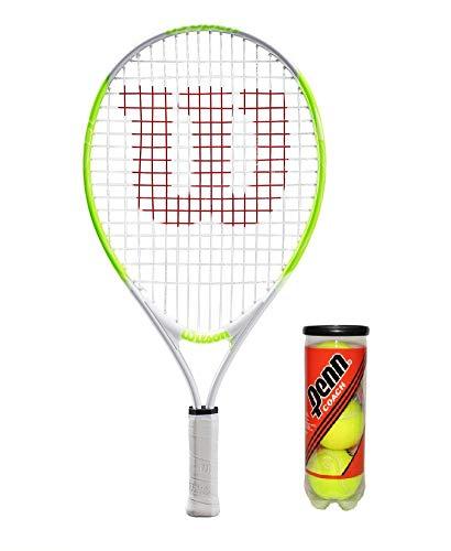 Wilson US Open Junior - Raqueta tenis incluye 3 pelotas