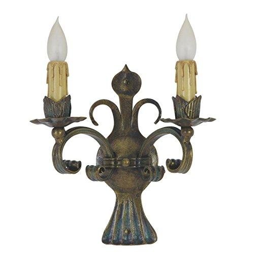 Gartentraum Zweiflammiges Schmiedeeisen Wandlicht Kerzen - Chavo, Weiß
